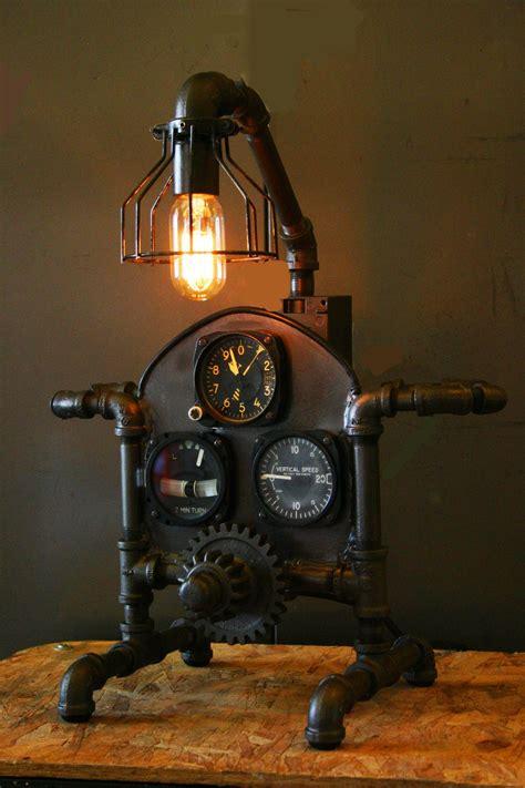 Steampunk Aviation Machine Age Lamp Sold