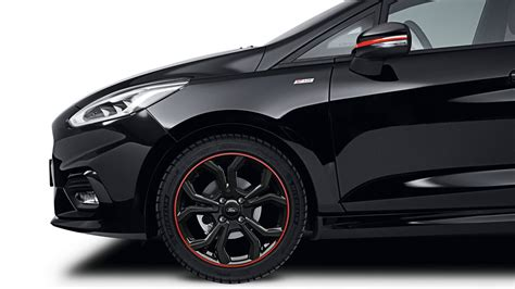 ford launches fiesta st  red edition joined  black