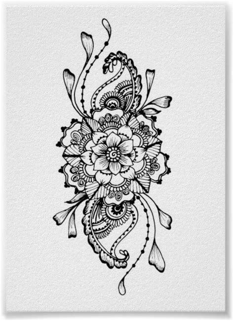 My favorite Mandala Henna Tattoo design I have done. I hope you enjoy it, too. **My signature
