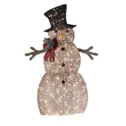 living 48 in lighted vine snowman outdoor decoration lowe 39 s canada