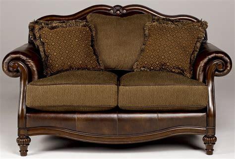 claremore antique sofa loveseat set claremore antique living room set from 84303