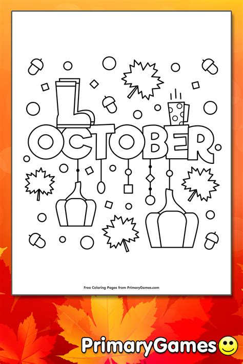 october coloring page printable fall coloring  primarygames