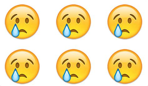 Super Sad Crying Face Emoji 2 Inch Round Magnet