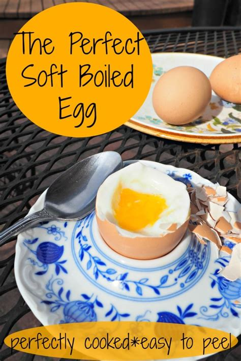 Perfect Soft Boiled Egg - Easy to Peel, Perfectly Cooked ...