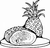 Coloring Pages Pineapple Ham Clipart Printable Clip Svg Illusion Optical Drawing Radio Johnny Fruit Domain Onlinelabels Library Popular Cliparts Vector sketch template
