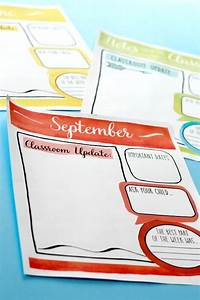 mailchimp calendar template - classroom newsletter templates watercolor style easy