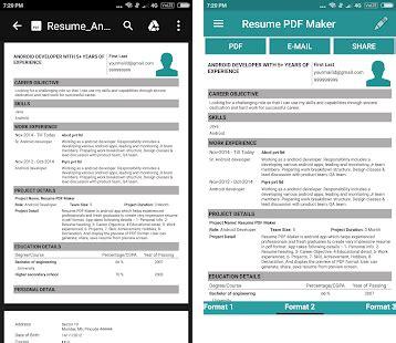 resume pdf maker cv builder apk download latest version