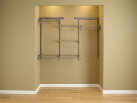closetmaid shelftrack 4 ft 6 ft w closet organizer kit