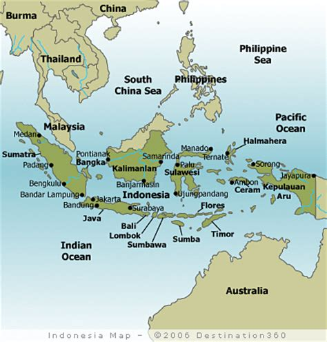 cities  indonesia map