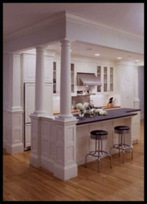 kitchen islands with columns 1000 images about columns on half walls 5271