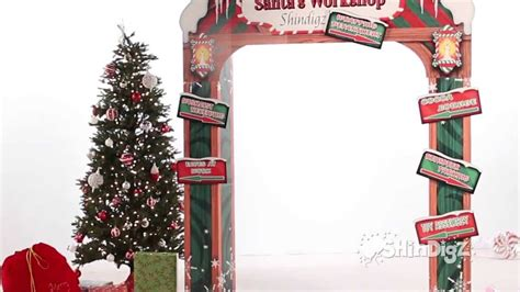 how to build a christmas arch santa s workshop personalized arch supplies shindigz decorations