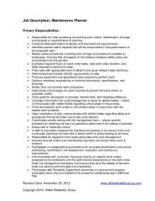 mechanical maintenance planner resume mechanical maintenance planner resume bestsellerbookdb