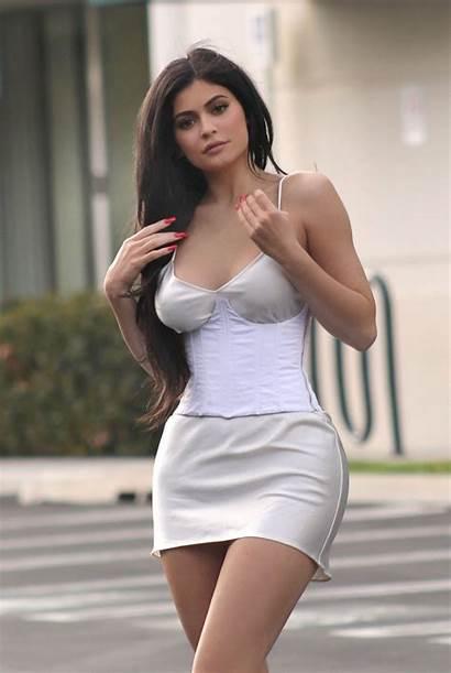 Kylie Jenner Short Legs Hills Silk Cleavage