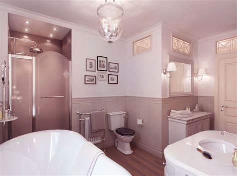 Neutral Bathroom by Neutral Bathroom With Wooden Floor Ideas Interior Design