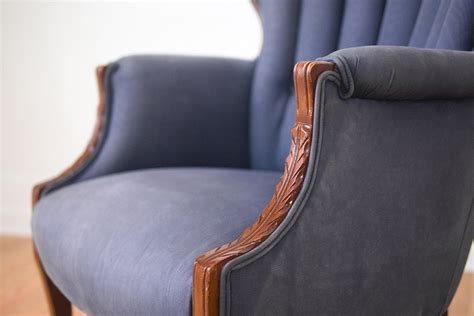 silk channel back wing chair homestead seattle