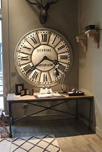 Grande Horloge Industrielle : la tendance horloges murales d corez avec du style ~ Teatrodelosmanantiales.com Idées de Décoration