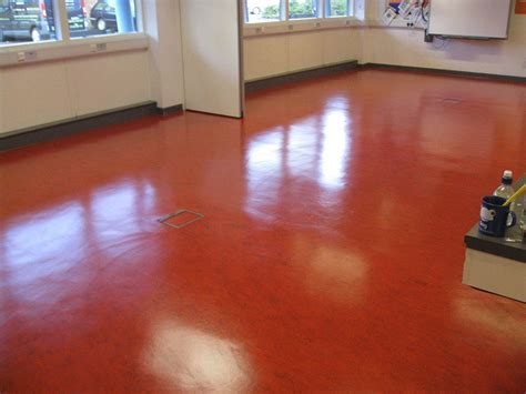 Stripping and Sealing Linoleum Floors, Carshalton College