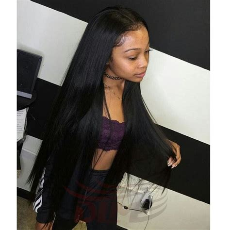 middle part silk straight indian virgin hair natural black