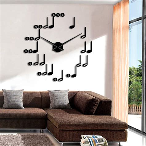 Today, my design week presents you 10 amazing music themed bedrooms for all music fan(atics). Music Notes DIY Wall Clock Watches Modern Design Musical Theme Wall Art Decor For Living Room ...