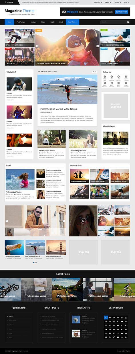 Magazine Wp Themes Magazine Themes For Any Type Of Magazine