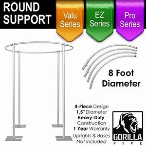 8ft Round Four Post Drape Support for 4-Post Canopy - 4 Piece