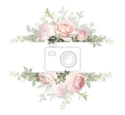 vintage card aquarell hochzeit einladung design mit rosa