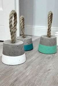 concrete doorstop pinterest With what kind of paint to use on kitchen cabinets for hanging crystal candle holders