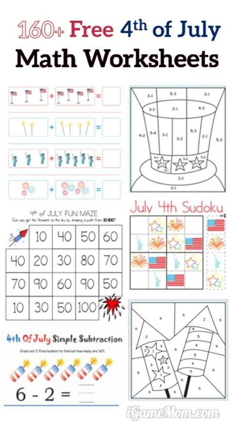 160 fourth of july printable math worksheets free math