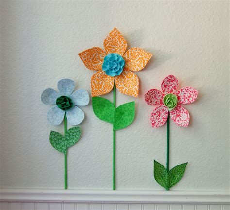 Wall Flowers Decor - 3d flower wall decor room wall decal by