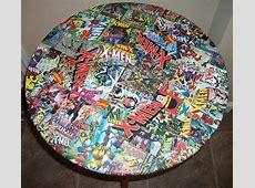 XMen Comic Decoupage table by Kracalactaka Artist Show