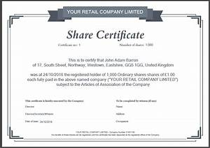 Another inform direct product update october 2016 for Company share certificate template
