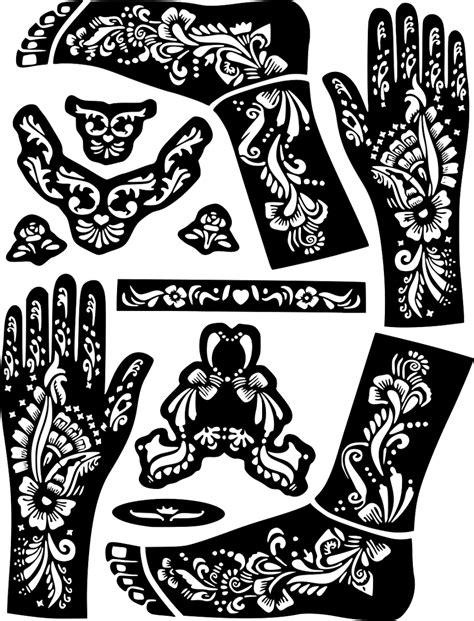 Henna Temporary Tattoo Body Art Sticker Stencil #
