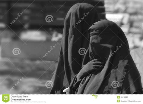 muslim veiled woman editorial photography image