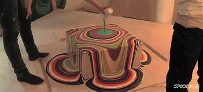 Satisfying Paint Pouring Melting Gifs Mind Oddly