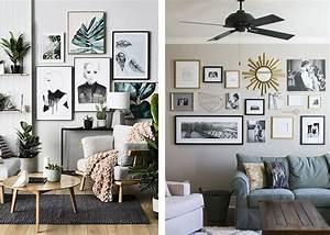 Wand Mit Fotos Gestalten : fotowand selber machen akzentwand mit eigenem charakter gestalten wohnzimmer dekorieren ~ A.2002-acura-tl-radio.info Haus und Dekorationen