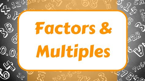 Multiples And Factors Worksheet Year 4  Convenient Multiples And Factors Multiplication Maths