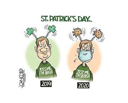 Cartoon Patrick Cartoons Coronavirus March Editorial Saint