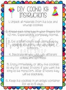 Birthday Cookie Kit Instructions