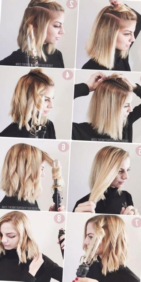 tutos coiffure cheveux mi long