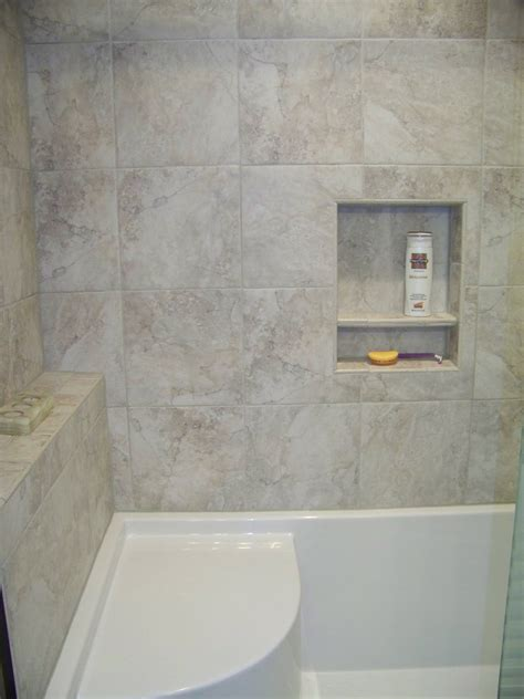 custom tile shower  shelfledge  acrylic  piece