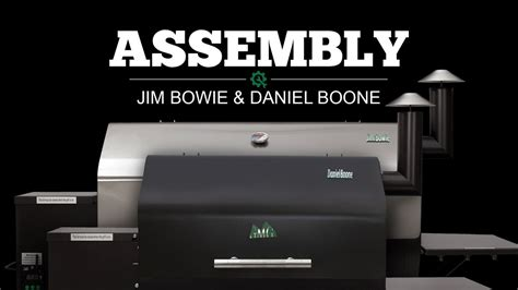 jim bowie  daniel boone assembly video green