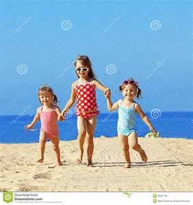 Kids Playing At The Beach Royalty Free Stock Photos ...