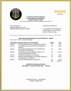 law firm invoice sample