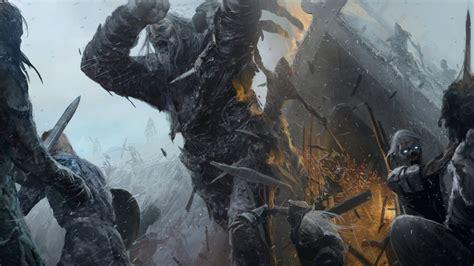 game  thrones fantasy art white walkers giant