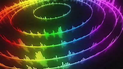 Spectrum Volume Audio Circular Sound Rainbow Bars