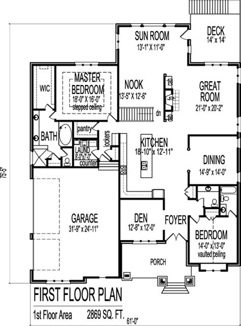small stone bungalow house floor plans  bedroom single story level