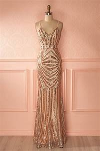 best 25 rose gold gown ideas on pinterest rose gold With robe rose gold