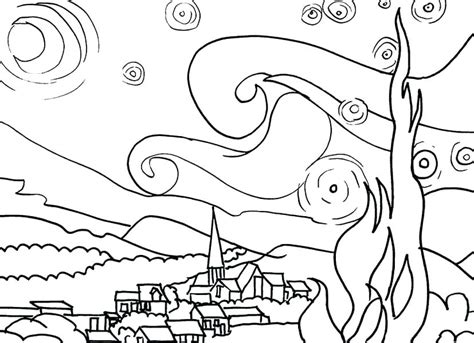 Henry And Mudge Coloring Pages Starry Night Page