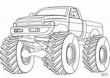 Coloring Monster Truck Supercoloring Printable Dot Drawing Paper Games Skip Through Crafts sketch template