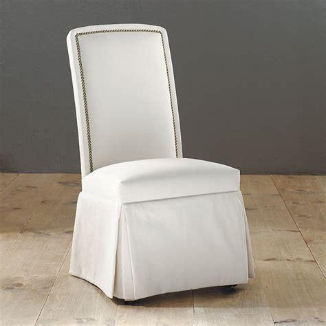 nailhead parsons chair with casters ballard designs